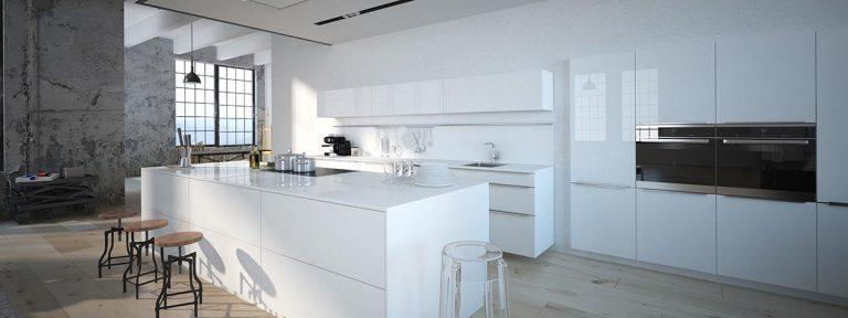 cocina blanca de diseno