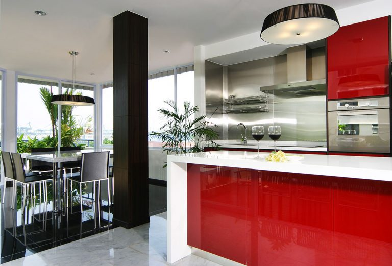 cocina-roja-moderna