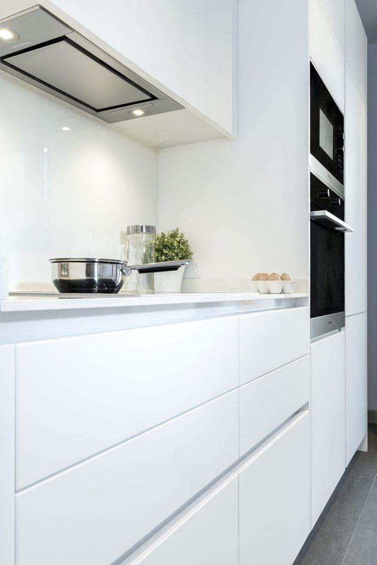 perspectiva cocina sin tirador moderna